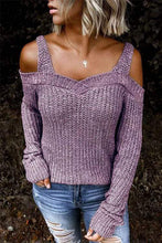 Load image into Gallery viewer, Cristalove Dew Shoulder Strapless Sweater