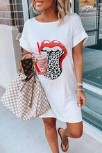 Load image into Gallery viewer, Cristalove Naughty Lip T-shirt Dress