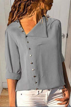Load image into Gallery viewer, Cristalove Oblique Silea Button Shirt