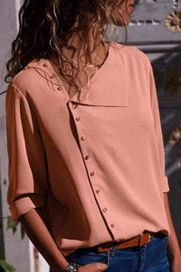 Cristalove Oblique Silea Button Shirt