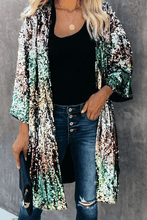 Load image into Gallery viewer, Cristalove Rainbow Multicolor Sequin Cardigan