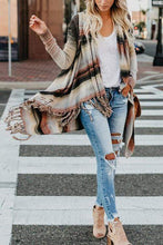 Load image into Gallery viewer, Cristalove Retro Striped Tassel  Sweater Cardigan