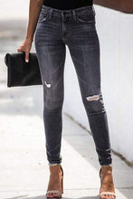 Load image into Gallery viewer, Cristalove Ripped Slim Denim Skinny Jeans