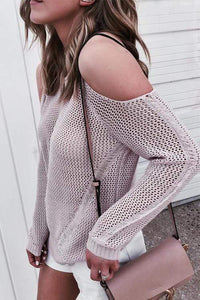 Cristalove Sexy Dew Shoulder  Sweaters