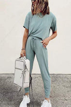 Load image into Gallery viewer, Cristalove Short Sleeve  Tracksuit Two Pieces Set