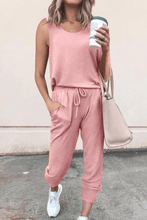 Load image into Gallery viewer, Cristalove Sleeveless Tracksuit Two Pieces Set