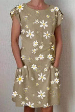 Load image into Gallery viewer, Cristalove Small Daisies Pocket Mini Dress