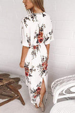 Load image into Gallery viewer, Cristalove Spring Girrl Floral Lacing Print Dress