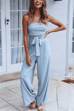 Load image into Gallery viewer, Cristalove Sunny Crop Strap-On Jumpsuit