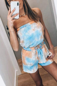 Cristalove Tie Dye Drawstring Two Piece Set