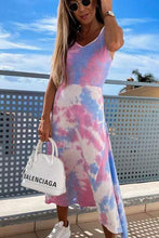 Load image into Gallery viewer, Cristalove Tie Dye Split Fashion Dress