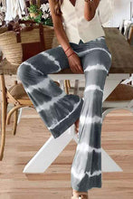 Load image into Gallery viewer, Cristalove Tie Dye Striped Flare Pants