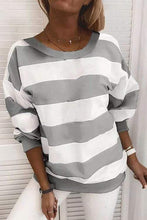 Load image into Gallery viewer, Cristalove Wide Striped Sweatshirt T-shirt
