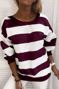 Cristalove Wide Striped Sweatshirt T-shirt