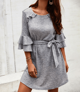 Cropped Round Neck Dress