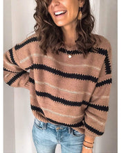 Load image into Gallery viewer, Fashion Headband Striped Color Sweater  |ZTD