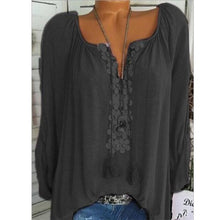 Load image into Gallery viewer, Long sleeve lace panelled shirt