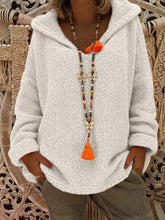 Load image into Gallery viewer, Hooded Plain Loose Long Sleeve Knitting Sweaters  | ZTD