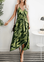 Load image into Gallery viewer, Irregular Print Vacation Vest Dress