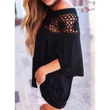Load image into Gallery viewer, Lace Off the Shoulder 1/2 Sleeves Casual Knit Blouses