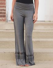 Load image into Gallery viewer, Lace Panel Wide Leg Pants