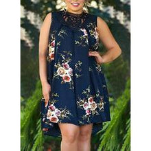 Load image into Gallery viewer, Lace/Print/Floral Sleeveless Shift Knee Length Casual/Elegant/Plus Size Dresses