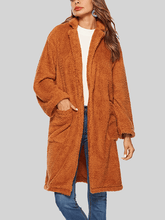 Load image into Gallery viewer, Lapel large pocket long woolen coat