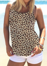Load image into Gallery viewer, Leopard Criss-Cross Open Back Camisole