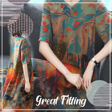 Load image into Gallery viewer, Luxury Genuine Silk Soft Dress