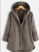 Load image into Gallery viewer, New Irregular Plus Velvet Plaid Coat  | iluver