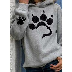 NEW! Print Hoodie Long Sleeves Casual T-shirts