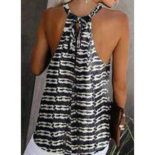 Load image into Gallery viewer, NEW! Print Round Neck Sleeveless Casual Tank Tops