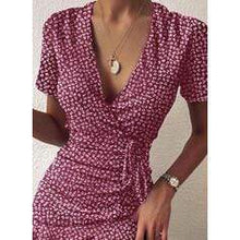 Load image into Gallery viewer, NEW! Print Short Sleeves Sheath Above Knee Casual/Elegant Dresses