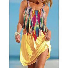 Load image into Gallery viewer, NEW! Print Sleeveless Shift Knee Length Casual/Vacation Dresses