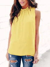 Load image into Gallery viewer, New Product Women's Collar Vest Top T-Shirt