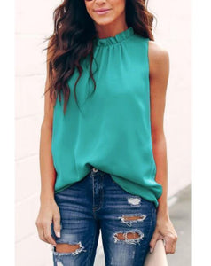 New Product Women's Collar Vest Top T-Shirt