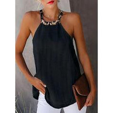 Load image into Gallery viewer, NEW! Solid Round Neck Sleeveless Casual Tank Tops
