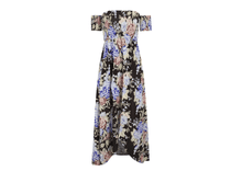 Load image into Gallery viewer, Off Shoulder Printed Short Sleeved Dress