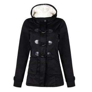Oversized Women's Hooded Jacket Pocket Hooded Long Sleeve Coat