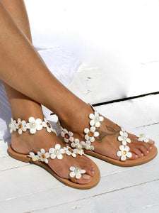 Plain Flat Beach Casual Flat Sandals