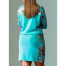 Load image into Gallery viewer, Print/Floral 1/2 Sleeves Shift Above Knee Casual/Plus Size Dresses