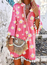 Load image into Gallery viewer, Print/Floral 3/4 Sleeves Shift Above Knee Casual/Vacation Dresses