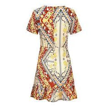 Load image into Gallery viewer, Print/Floral Short Sleeves A-line Above Knee Casual/Boho/Vacation Dresses