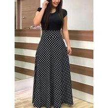 Load image into Gallery viewer, Print/Floral Short Sleeves A-line Casual/Plus Size Maxi Dresses