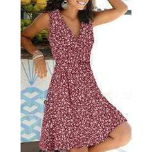 Load image into Gallery viewer, Print/Floral Sleeveless A-line Knee Length Casual/Vacation Dresses