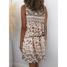 Load image into Gallery viewer, Print/Floral Sleeveless Sheath Above Knee Casual/Boho/Vacation Dresses