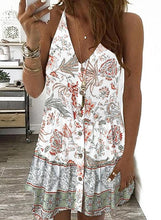 Load image into Gallery viewer, Print/Floral Sleeveless Shift Above Knee Casual/Boho/Vacation Dresses