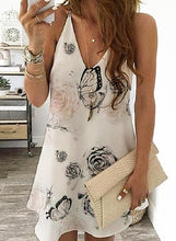 Load image into Gallery viewer, Print/Floral Sleeveless Shift Above Knee Casual Dresses
