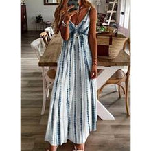 Load image into Gallery viewer, Print Sleeveless A-line Casual/Vacation Maxi Dresses