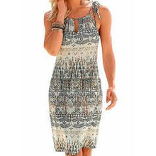 Load image into Gallery viewer, Print Sleeveless Sheath Above Knee Casual/Boho/Vacation Dresses